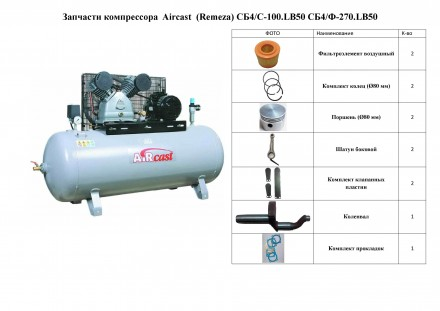 Ремонт компрессоров Aircast  LB50 LB75. Киев. фото 1