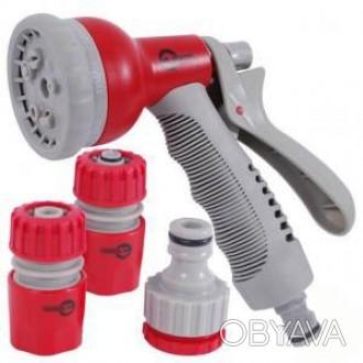Пистолет-распылитель Intertool для полива 8-ми функциональный (арт. GE-0002)