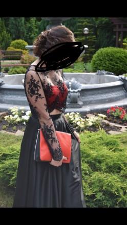 Платье одевалось 1 раз на выпускной, состояние отличное. Юбка из атласа по талии. Сумы, Сумская область. фото 4