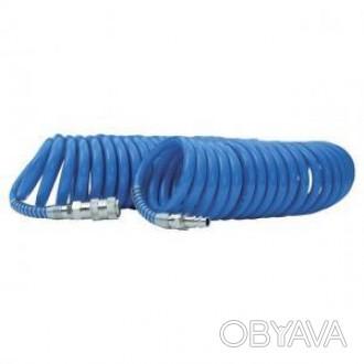 Шланг спиральный Intertool полиуретановый 6.5х10 мм, 15 м (арт. PT-1712)