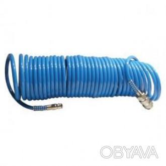Шланг спиральный Intertool полиуретановый 5.5х8 мм, 15 м (арт. PT-1708)