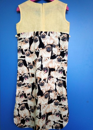 """Платье """"Мопсики"""". Только для модниц!  Легкое летнее платье на девочку с ориги. Днепр, Днепропетровская область. фото 5"""
