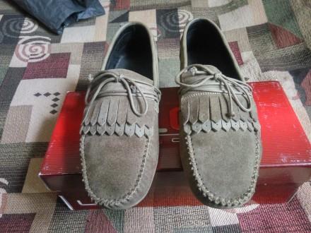 Замшевые туфли LUCKY CHOICE. Размер: (39-40) 26 см по стельке.. Конотоп. фото 1