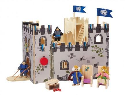 Раскладной деревянный рыцарский замок Playtive Германия с мебелью. Київ. фото 1