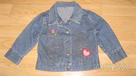 Джинсовая куртка на девочку 2-2,5 года в отличном состоянии Отправлю в любую ча. Одеса, Одеська область. фото 1