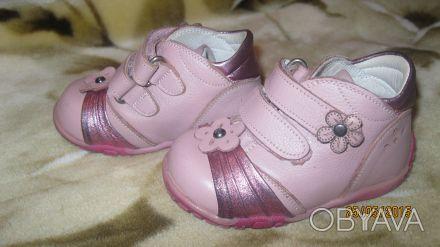 Отличные ботинки на девочку в отличном состоянии, натуральная кожа, супинатор и . Одеса, Одеська область. фото 1