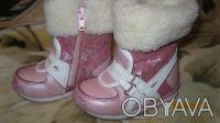 Зимние сапоги на девочку, мех не забитый, только стесаны немного носки, производ. Одесса, Одесская область. фото 2
