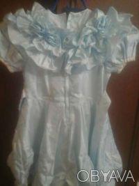 Платье на девочку 4-5лет 32 см полуобхват талии.  72 см длина    голубой цвет. Дніпро, Дніпропетровська область. фото 3