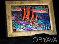 Серия «Парусники»: Пиратская галера Размер живописного поля: 180 х 130 (мм) Ви. Чернигов, Черниговская область. фото 4