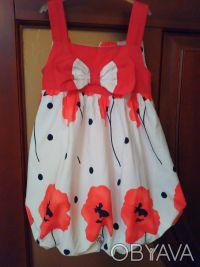Красивое, модное нарядное платье р. 104 (на 2-4 года) Турция. Подкладка х/б. На. Киев, Киевская область. фото 3