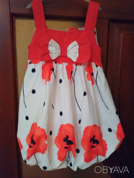Красивое, модное нарядное платье р. 104 (на 2-4 года) Турция. Подкладка х/б. На. Киев, Киевская область. фото 1
