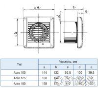 Осевой вытяжной вентилятор Blauberg Aero 100/125/150 S/T/ST/H/SH. Киев. фото 1