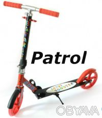 Самокат Patrol двухколесный scooter колеса 200мм. Киев. фото 1