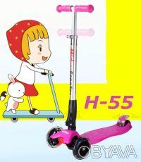Самокат Trolo Maxi Micro H-55 с наклоном руля складной scooter - Устойчивая и н. Киев, Киевская область. фото 4