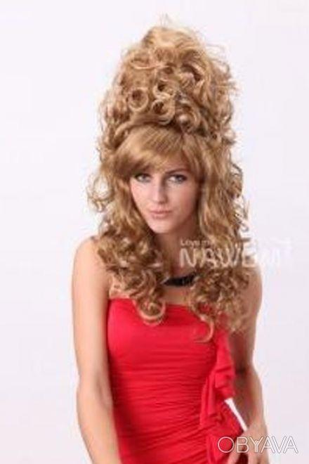 Продам интересный женский  парик, покупала на юбилей, один раз одет. Отдам за 7. Чернигов, Черниговская область. фото 1