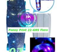 Скейт Penny Print 22-GRS Fiero лонгборд пенни 56 см fish cruiser skate board све. Киев, Киевская область. фото 9