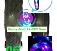 Скейт Penny Print 22-GRS Fiero лонгборд пенни 56 см fish cruiser skate board све. Киев, Киевская область. фото 8