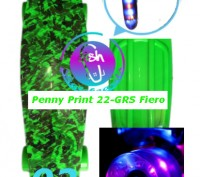 Скейт Penny Print 22-GRS Fiero лонгборд пенни 56 см fish cruiser skate board све. Киев, Киевская область. фото 4
