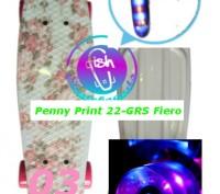 Скейт Penny Print 22-GRS Fiero лонгборд пенни 56 см fish cruiser skate board све. Киев, Киевская область. фото 5