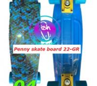 Пенни 22-GR penny print лонгборд скейт 56 см fish cruiser skate board Размер: 2. Київ, Київська область. фото 5