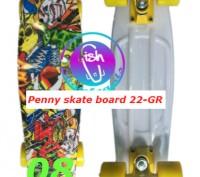 Пенни 22-GR penny print лонгборд скейт 56 см fish cruiser skate board Размер: 2. Київ, Київська область. фото 9