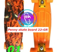 Пенни 22-GR penny print лонгборд скейт 56 см fish cruiser skate board. Киев. фото 1
