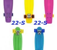 Скейт Penny 22-S skate board Cruiser Fish пенни 56 см светящиеся колеса Размер:. Киев, Киевская область. фото 2