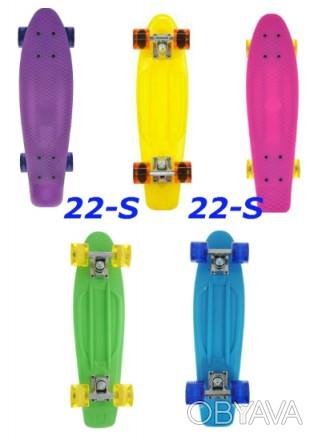 Скейт Penny 22-S skate board Cruiser Fish пенни 56 см светящиеся колеса Размер:. Киев, Киевская область. фото 1