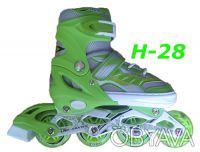 Ролики H-28 раздвижные размер 28-33, 34-38, 38-43 детские Улучшенная вентиляция. Киев, Киевская область. фото 2