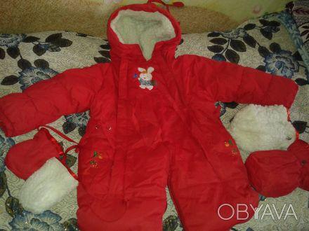 Детский зимний комбинезон на овчине с капюшоном.Удобная конструкция комбинезона . Житомир, Житомирская область. фото 1