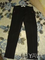 БРЮЧКИ на девочку черного цвета,карманы обманки.сверху пояс,прямые,длина 65 см,т. Житомир, Житомирская область. фото 2