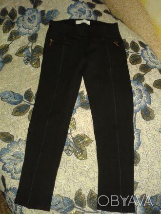 БРЮЧКИ на девочку черного цвета,карманы обманки.сверху пояс,прямые,длина 65 см,т. Житомир, Житомирская область. фото 1