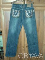 красивый джинсовый костюм.длина брюк 100 см,размер 30.обхват талии 72 см,бедра 8. Житомир, Житомирська область. фото 5