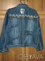 красивый джинсовый костюм.длина брюк 100 см,размер 30.обхват талии 72 см,бедра 8. Житомир, Житомирська область. фото 3