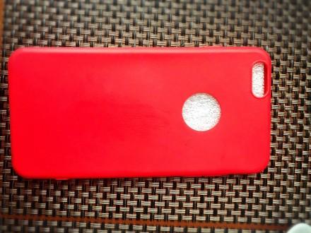 Красный Силиконовый чехол  iPhone 6/ iPhone 7. Киев. фото 1