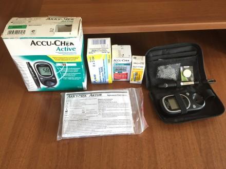 Глюкометр Accu-Chtk (Германия) б/у в комплекте: заводская упаковка, прибор, нова. Чернигов, Черниговская область. фото 5