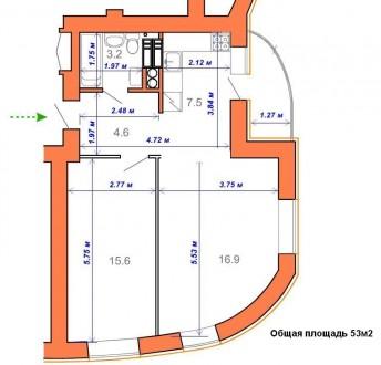 Продам 2-х комнатную квартиру 53 м2 на 3 этаже в ЖК Атриум, ул.Тургеневская. Нов. Ирпень, Киевская область. фото 9