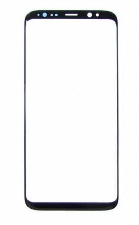 Стекло сенсора (тачскрина) на SAMSUNG G950 Galaxy S8 чёрное. Одесса. фото 1
