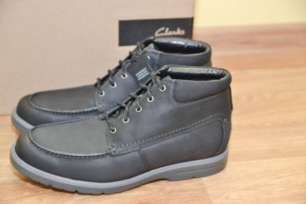 Ботинки кожаные Clarks р.44,45. Бровары. фото 1