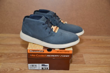 Кожаные ботинки Skechers USA р.43-44. Бровары. фото 1