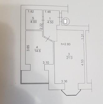 ЖК Карат, продается однокомнатная перепланирована в двухкомнатную. Площадь кварт. Ирпень, Киевская область. фото 6