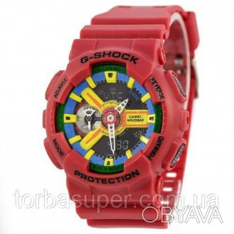 Casio G-Shock AAA GA-110 Red-Yellow