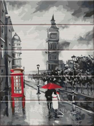 """Картина по номерам на дереве """"Старый Лондон"""" (размер 30*40см) станет прекрасным . Днепр, Днепропетровская область. фото 2"""