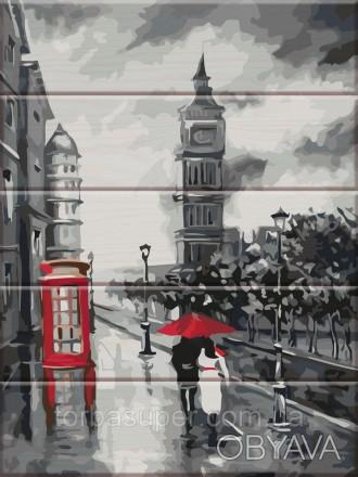 """Картина по номерам на дереве """"Старый Лондон"""" (размер 30*40см) станет прекрасным . Днепр, Днепропетровская область. фото 1"""