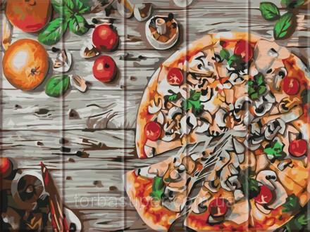 """Картина по номерам на дереве """"Пицца"""" (размер 30*40см) станет прекрасным украшени. Днепр, Днепропетровская область. фото 2"""