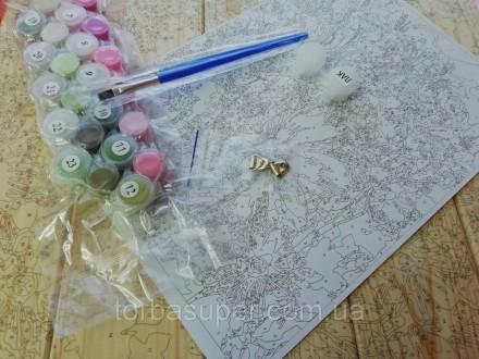 """Картина по номерам на дереве """"Любовь"""" (размер 30*40см) станет прекрасным украшен. Днепр, Днепропетровская область. фото 4"""
