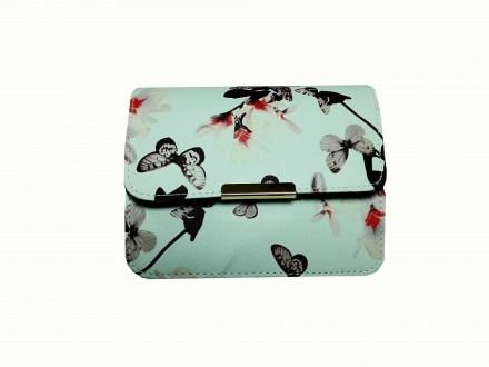 Бежевая женская сумочка с яркой летней расцветкой в цветах и бабочках создает не. Запорожье, Запорожская область. фото 6