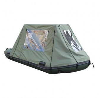 Тент - палатка Kolibri для надувных гребных лодок К270Т (темно-серый). Киев. фото 1