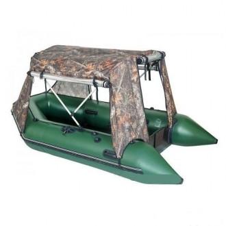 Тент-палатка для надувных моторных лодок КМ-450DSL (в ассортименте). Киев. фото 1