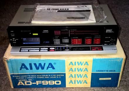 Кассетная дека (магнитофон) AIWA AD-F990E (модель 1986 г., изготовлена в Японии). Харьков, Харьковская область. фото 13